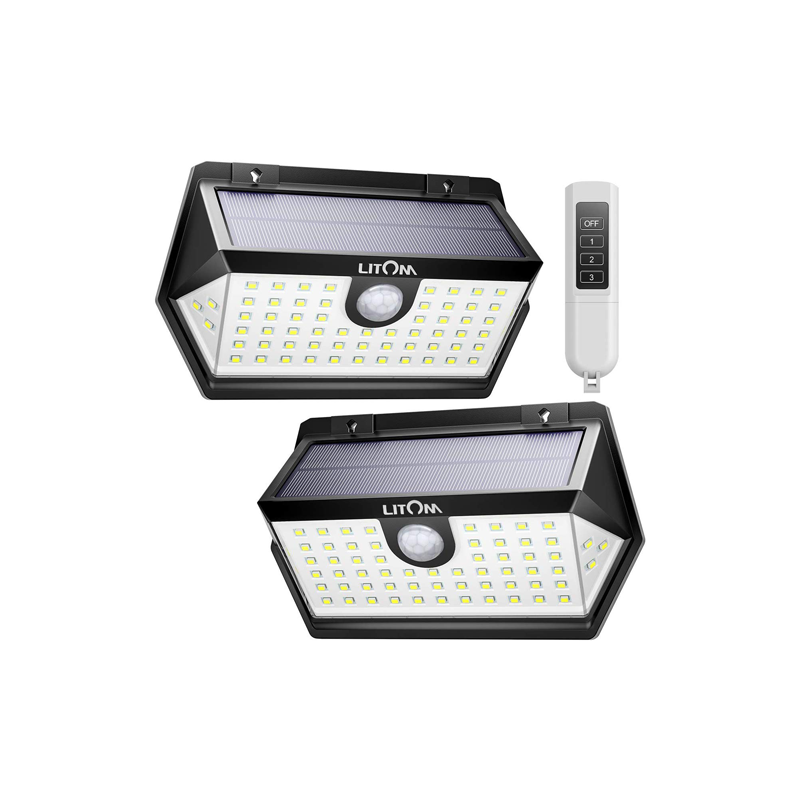 LITOM C-M63 Solar Lights Outdoor(With Romote Control)