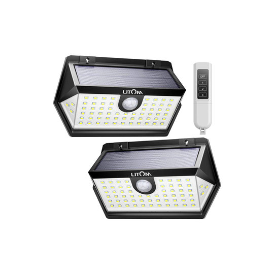 LITOM C-M63 Solar Sensor Light With Romote Control
