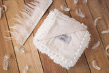 Koochicoo Fluffy Cream Baby Blanket