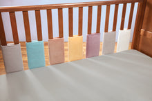 Load image into Gallery viewer, Bumper wraps suitable for cot and cot bed in beautiful soft velvet .