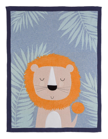 Ludvic Lion Knitted Blanket