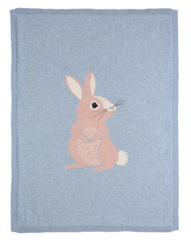 Cotton Tail Bunny Knitted Blanket