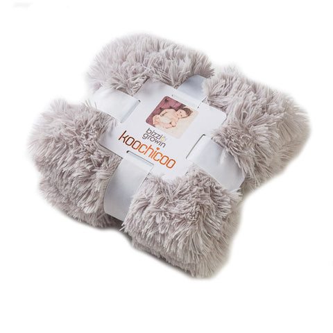 Koochicoo Grey Fluffy Baby Blanket
