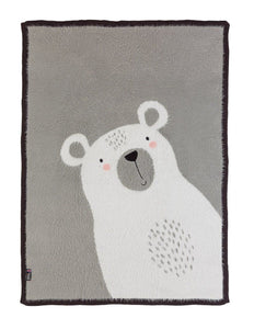 Polar Bear Knitted Baby Blanket