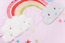 Load image into Gallery viewer, Cot bed Quilt- Rainbow & Unicorns
