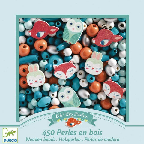 Design By Djeco Arte y Manualidades Crea tus joyas: Small Animals Wooden Beads DJ09807