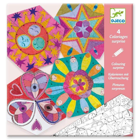 Design By Djeco Arte y Manualidades Set para Colorear- Constellation Mandalas DJ09655