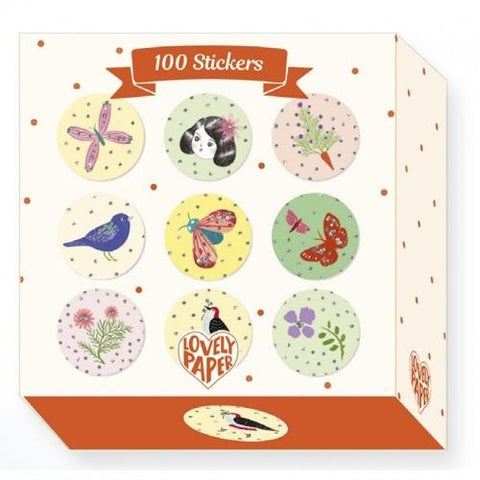 Lovely Paper Arte y Manualidades 100 stickers Chichi DD03702