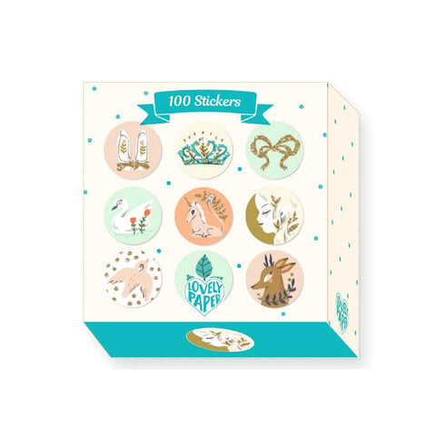 Lovely Paper Arte y Manualidades 100 stickers Lucille DD03700