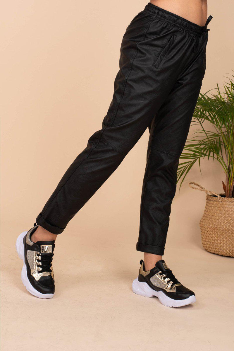 Eco Leather Pants / Black