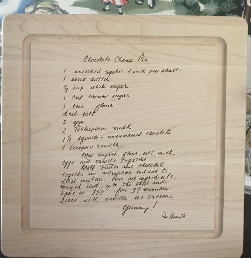 Maple Cutting Board with Your Own Recipe!