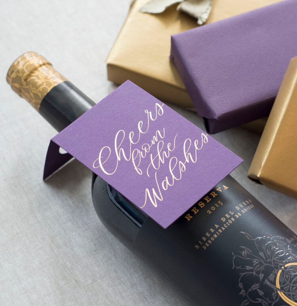 Cheers Letterpress Wine Tags