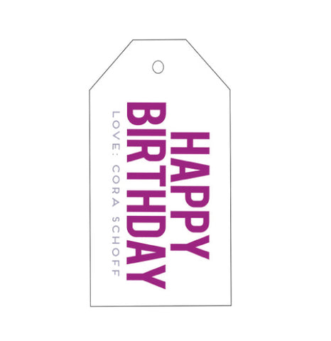 Letterpress Gift Tags - Design T21