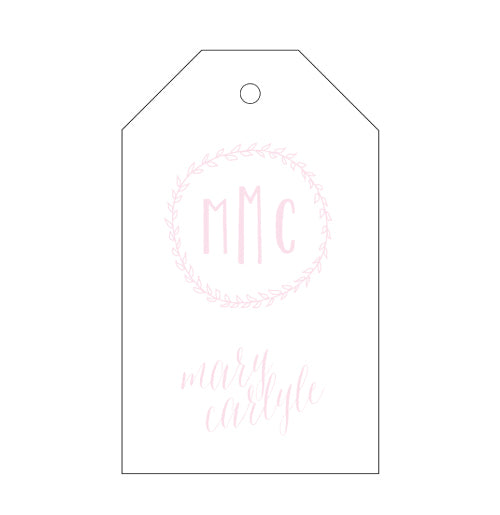 Letterpress Gift Tag - Style T105