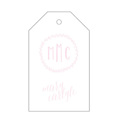 50 Fold Over Notes with 2-letter Monogram