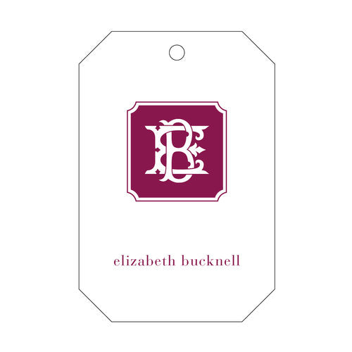 Gorgeous two letter monogram gift tags. Printed by hand in the U.S.