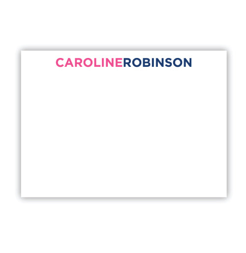 Large Flat A7 Card with 2-Color Name