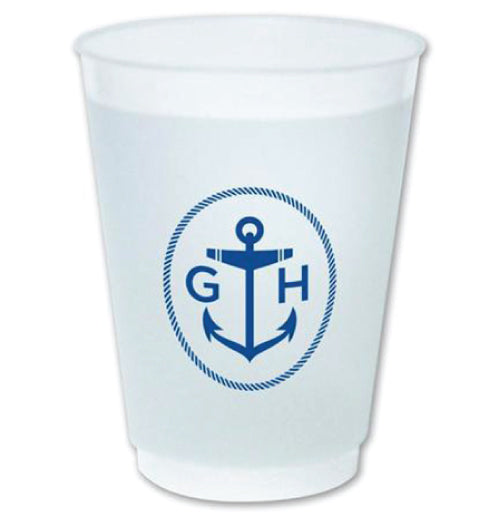 Picture of our anchor style frost flex cups. Great for parties.