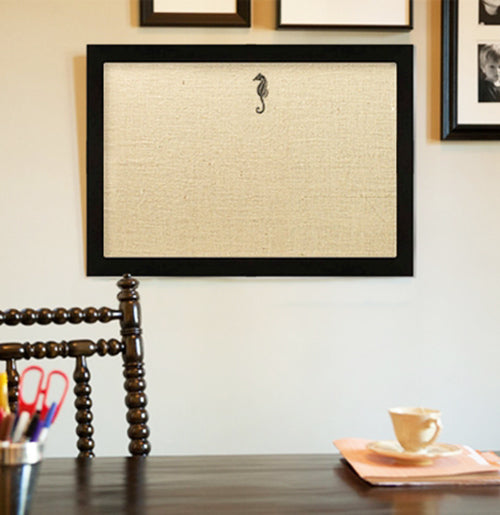 Custom Bulletin Board with White or Black Frame