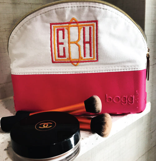 Bogg Bag with Square Border Monogram