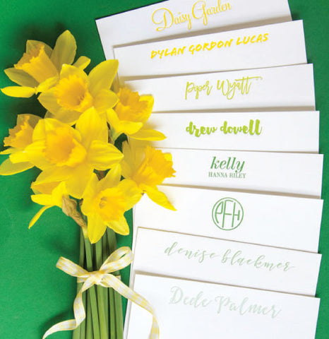 50 Letterpress Notecards with Color Envelopes and Liner