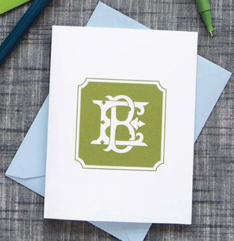 Letterpress Cards with Lined Envelopes