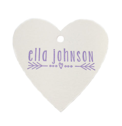 Heart-shaped Letterpress Gift Tags