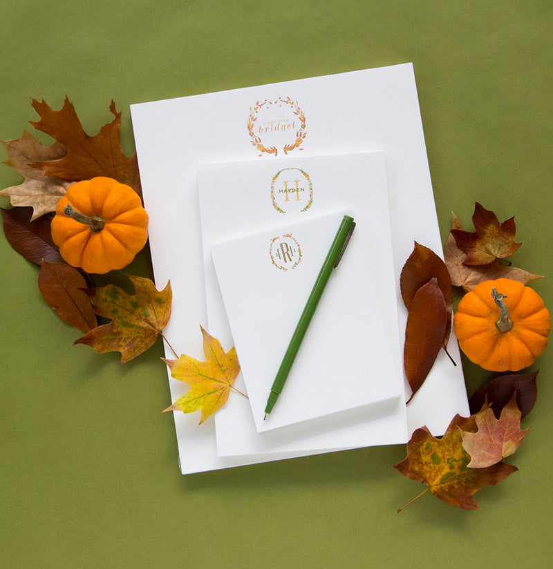 Fall Pads with Couture Crest Monogram