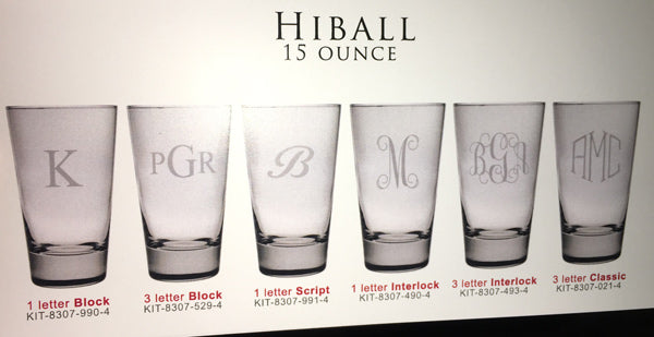 Four High Ball Glasses