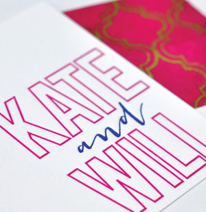Letterpress Personal Stationery - Design 46