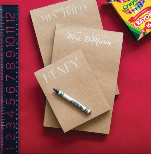 Kraft Personalized Notepads