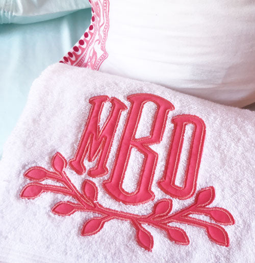 Super Soft Towels with Laurel Applique