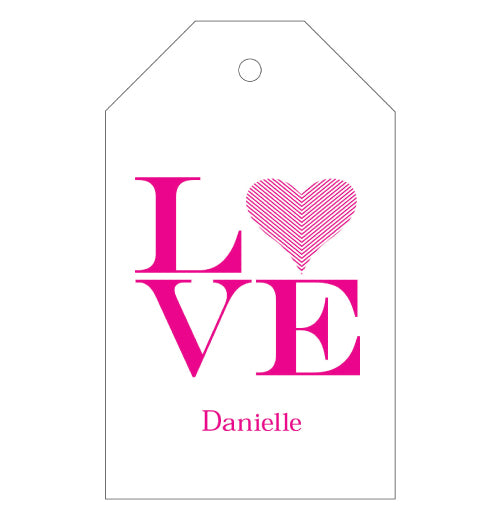 Love gift tags personalized with a name. Great gift!