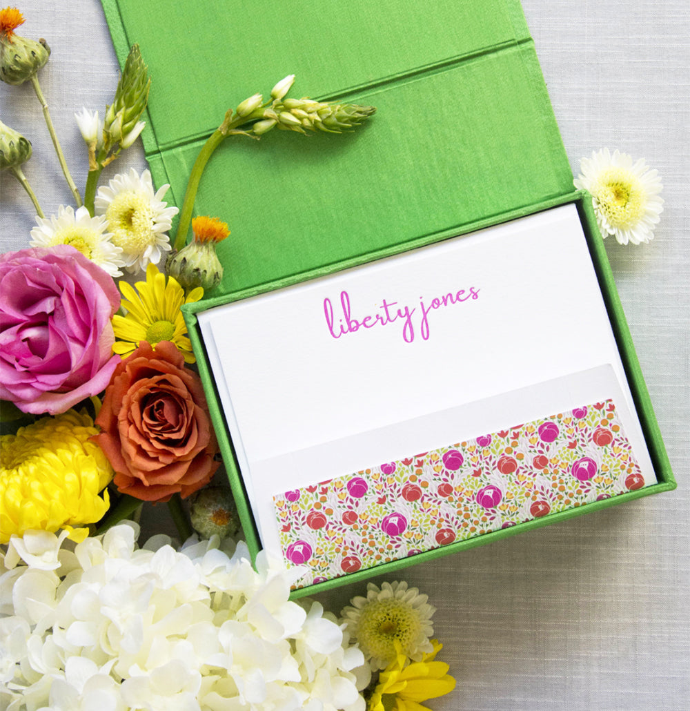 Silk Stationery Box - Style P26