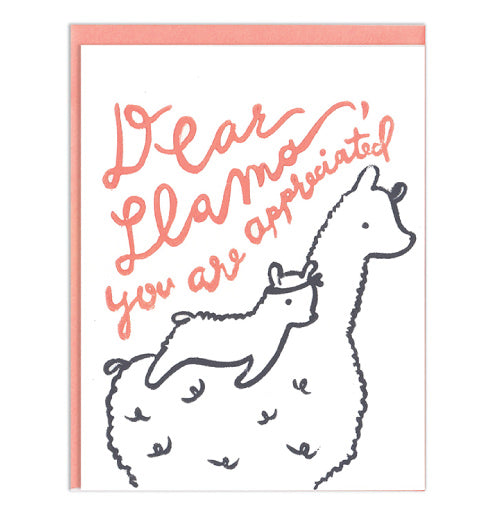 Dear Llama Mother's Day Card