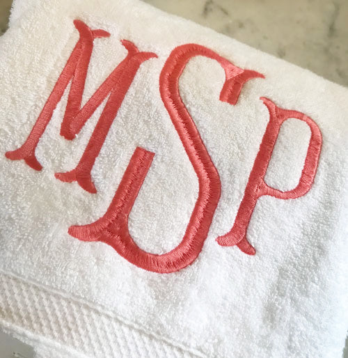 Super Soft Bath Towel with Spindle Monogram
