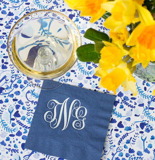 100 Navy Cocktail Napkins
