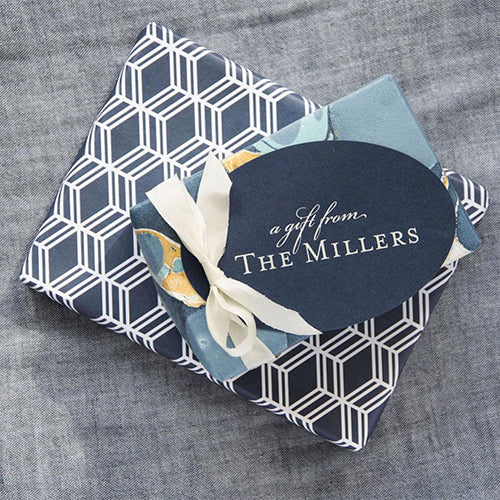Letterpress Gift Tags - With White Foil