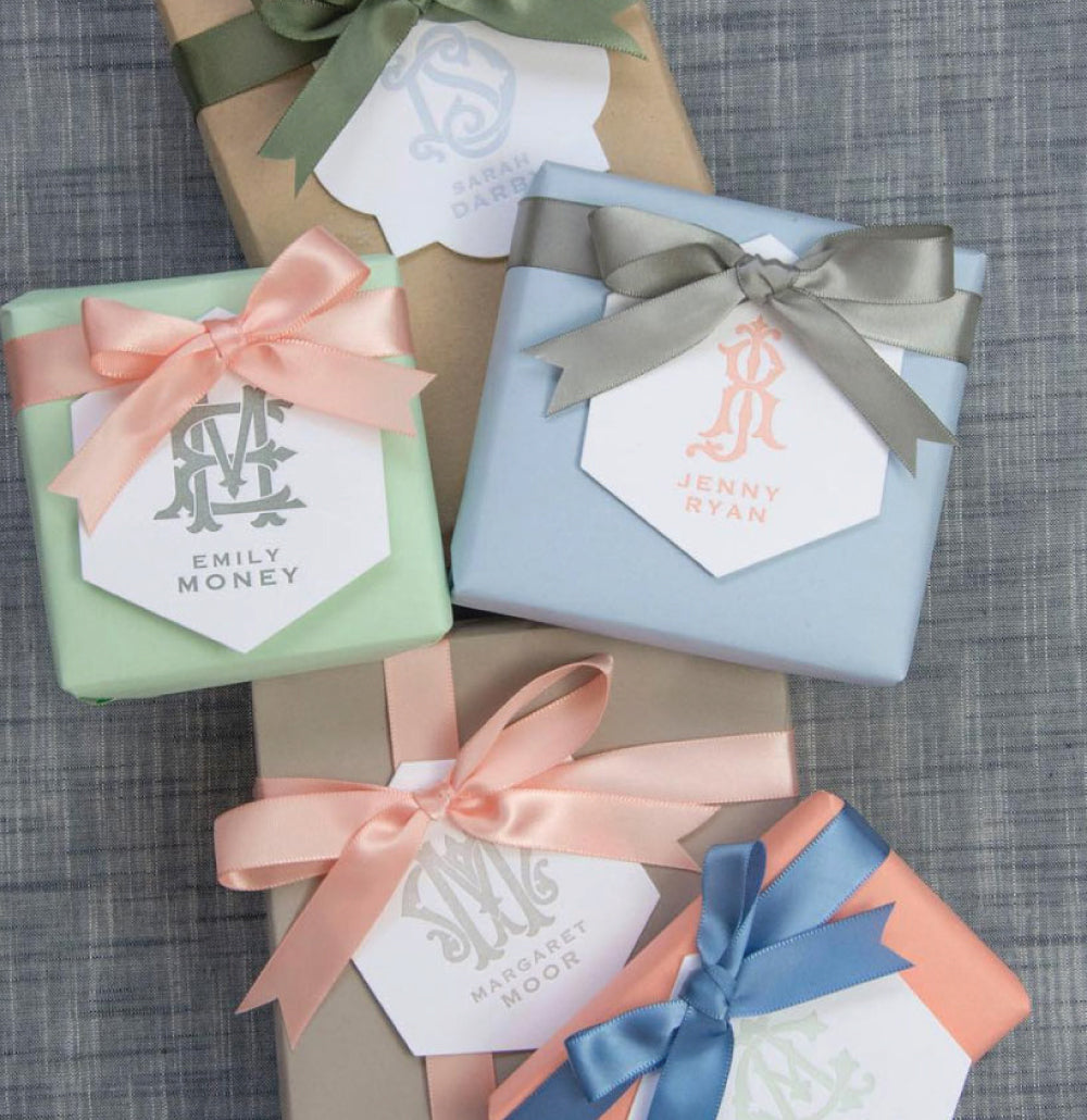 50 Pastel Duogram Gift Tags