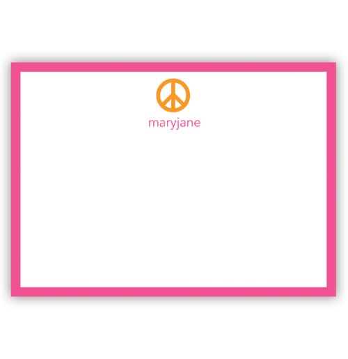 Peace Sign Flat Cards - #20704