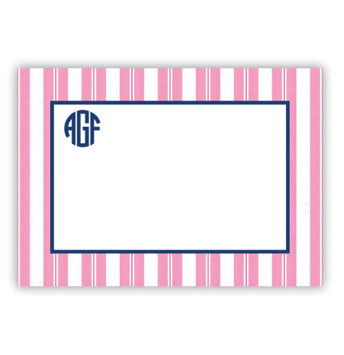 Vertical Pink Striped Card - #984-PO2