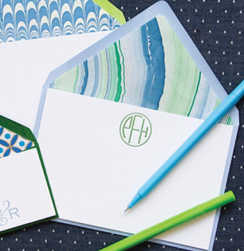 50 Letterpress Notecards