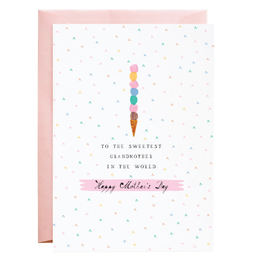 Sweetest Grandmother - Mother's Day Greeting Card