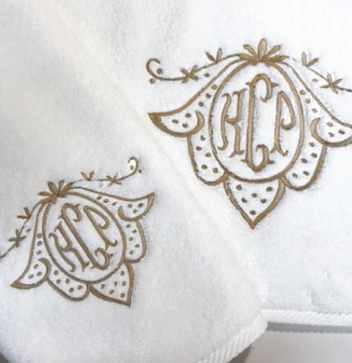 Super Soft Towel with the Warwick Monogram