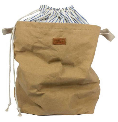 Stylish Laundry Bag with Pinstripe Interior Closure