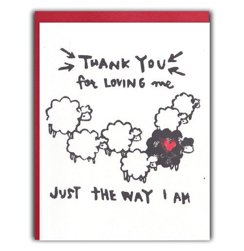 Black Sheep Valentine Card