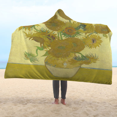 Van Gogh Hooded Blanket