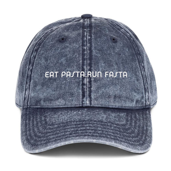 Eat Pasta Run Fasta Vintage Cap