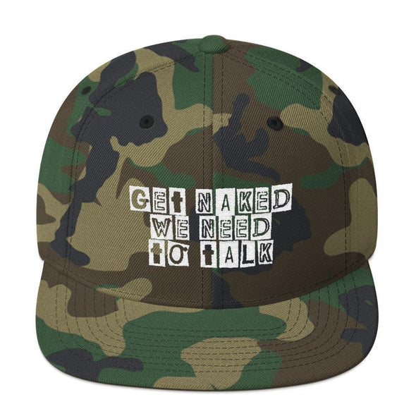 Get Naked, We Need To Talk Snapback Hat