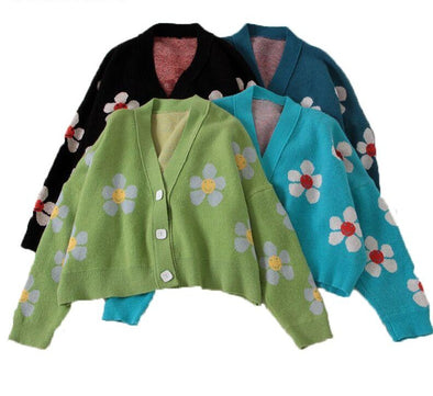 Flower Retro Cardigan